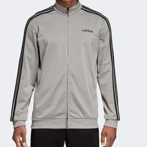 Mens Adidas -3-Stripes Tricot Track Jacket- Silver